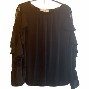 Loft black blouse with beautiful Sleeve details